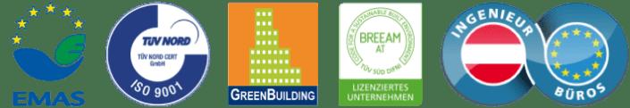 AMiP Zertifizierungen-AMIP-EMAS-ISO9001-Green-Building