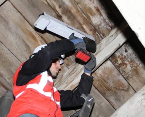 AMiP Messung Holzdecke
