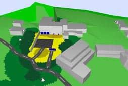 Simulation Häusergruppe