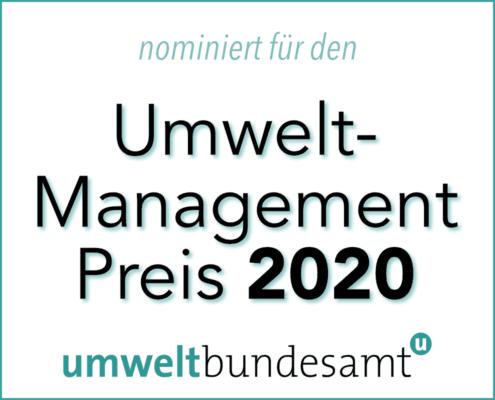 AMiP Nominierung Umweltmanagementpreis 2020